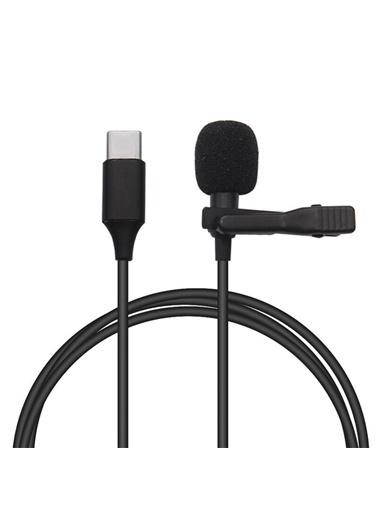 Bludfire Lavalier Gl-121 Type-C Youtuber Tiktok Yaka Ve Röportaj Mikrofonu 1,5Metre Superb Sound Siyah